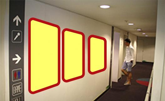 A. 3階共有通路内ポスター連貼イメージ1