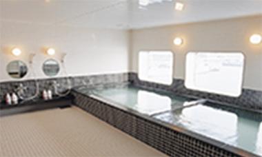 船内展望風呂でのサンプリング・ポスター掲示